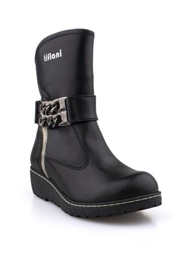 Cici Bebe Ayakkabı Deri Kız Çocuk Çizme Siyah